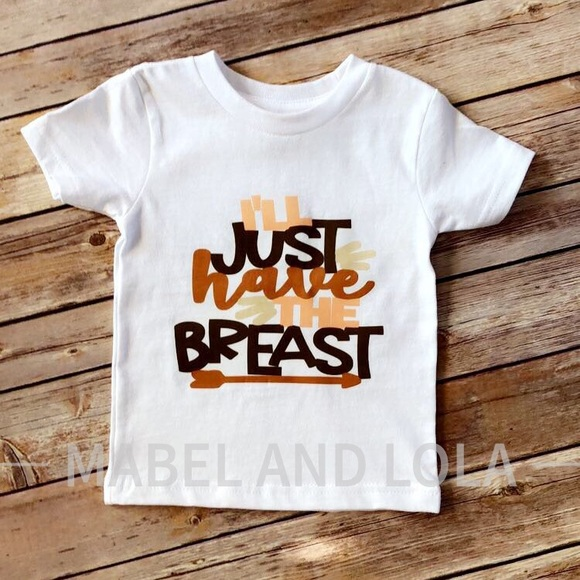189072988 Mabel and Lola Shirts & Tops | Breastfed Baby Funny Thanksgiving ...